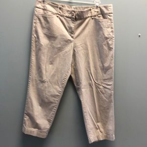 Loft khaki crop pants